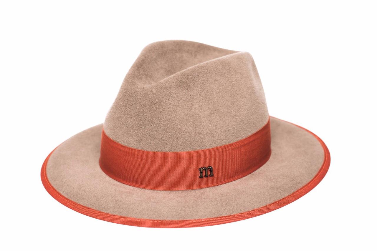 Indy taupe rabbit furfelt hat