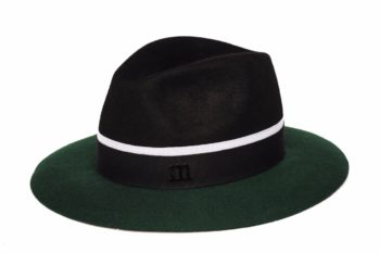 Casy black/green woolen hat