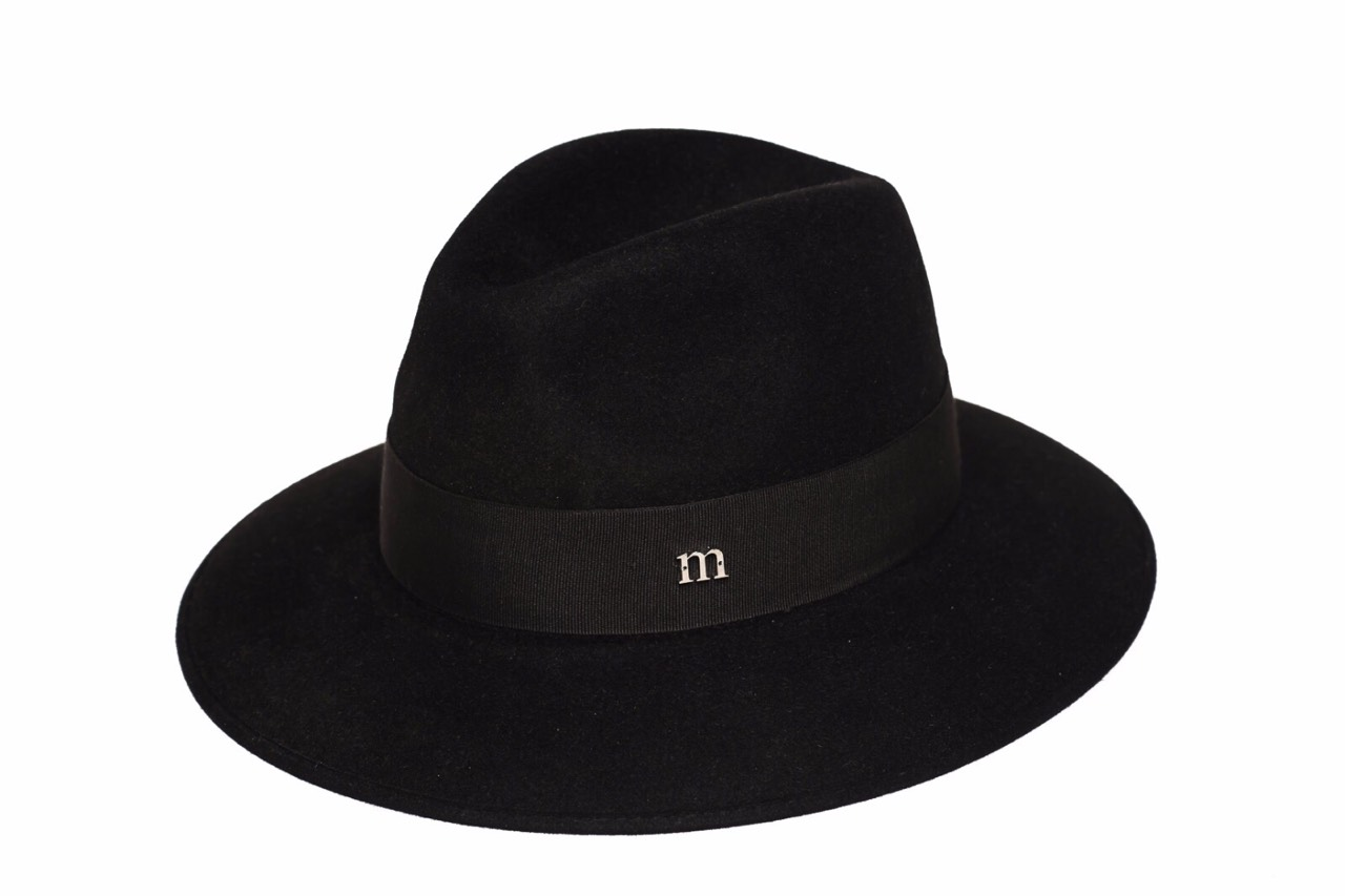 Timelessly chic black Indy hat