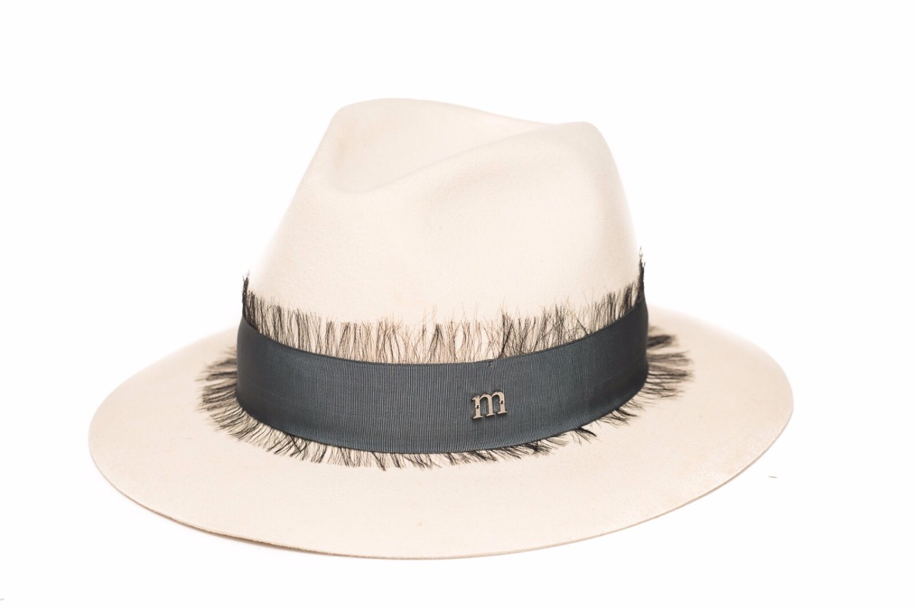 Indy white rabbit felt hat